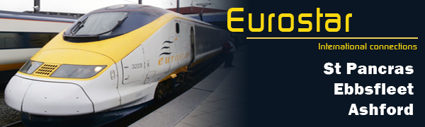 Taxis to Eurostar train stations for international connections