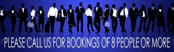 Group Bookings - Please Call Us